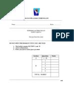 Percubaan  Tganu UPSR 2013 A