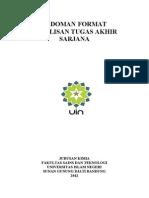 Revisi Format Penulisan TA-Kimia