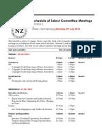Select Committee Meetings July 29, 2013