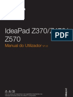 Lenovo IdeaPad Z370Z470Z570 User Guide V1.0 (Portugues)