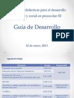Estructura de la guía de desarrollo