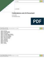 Celebrations.com Wireframes