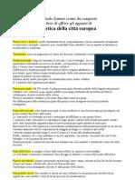 Estetica della città europea -  individuazione temi collettivi -