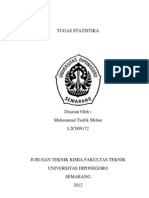Tugas Statistika RSM (Respon Surface Method)