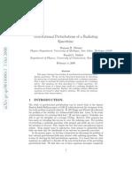 Gravitational Perturbations of a Radiating Spacetime (WWW.OLOSCIENCE.COM)