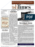 Jewish Times - Volume I,No. 11...April 19, 2002