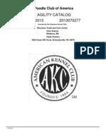 PCA Agility 2013 Standard Catalog