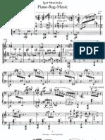 Stravinsky Piano Rag Music