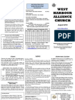 Newsletter for West Harbour Alliance Church - August 2013
