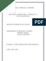II Secuencia 2° año - 2013