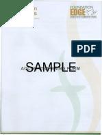 Foundation Securities Form Stock Sample