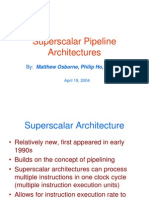 Superscalar Architectures
