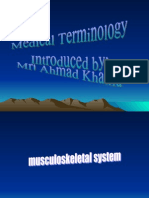Musculoskeletal System Word Back
