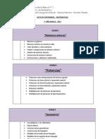 Lista de Contenidos Matematicas - 7 Basico