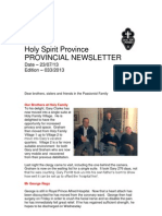 Provincial Newsletter- Ed 033 29 July 2013