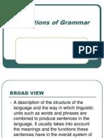 Definitions of Grammar[1]