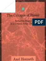 Axel Honneth - The Critique of Power