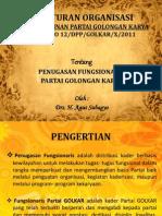 Peraturan Organisasi Partai Golkar