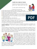 REFLEXIÓN PARA PADRES DE FAMILIA