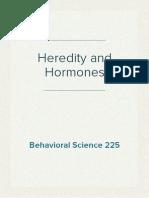 Heredity and Hormones