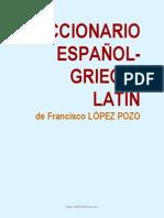 Diccionario español - griego - latín