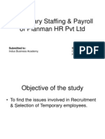 Temporary Staffing & Payroll of Planman HR Pvt