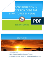 Presentation sildes on Seismic Design Code of Nepal