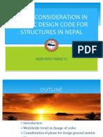 Presentation sildes on Seismic Design Code of Nepal