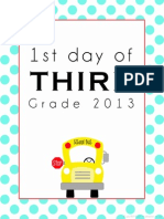 First Day of School Printable - Third
