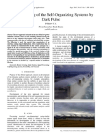 Remote Sensing of the Self-Organizing Systems by Dark Pulse