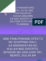 Ang Panlipunang Epekto Ng Shopping Mall