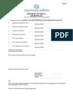 Traffic Act Form Xi
