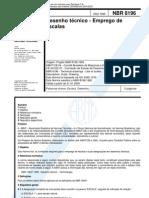 NBR 8196 Desenho Tecnico - Emprego de Escalas
