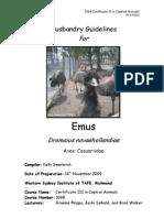 Emu Husbandry