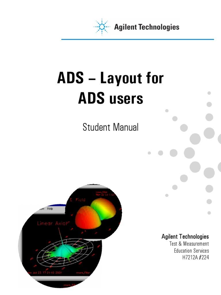 ads layout manual radio frequency program optimization rh scribd com agilent ads 2009 manual pdf agilent ads manual pdf