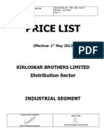 Industrial Segment Price List Wef 01 05 2013 (KBL)