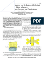 Top Lateral Refraction and Reflection of Polarized Light in Lenses, Coplanar Lens Systems, and Applications