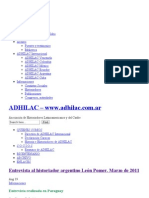 Entrevista al historiador argentino León Pomer. Marzo de 2011 - ADHILAC – www.adhilac.com