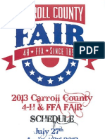 Carroll County 4-H & FFA Fair July 27th – August 2nd, 2013
