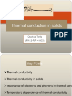 thermal conductivity in solids