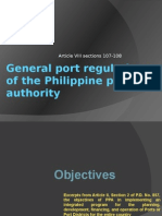 General Port Regulations of the PPA