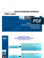 Rencana Induk Pelabuhan Nasional Tahun 2030