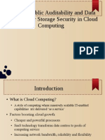 Enabling public auditability in cloud computing to provide security in storage