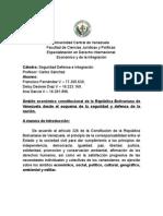 III TRABAJO SEGURIDAD, DEFENSA E INTEGRACIÓN