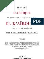 El Kairouani, Histoire de l'Afrique, Traduction Pellissier & Rémusat