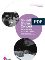 Soundhub Showcase Programme Complete