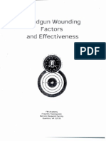 FBI - Handgun Wounding Factors