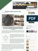 Menguak Jejak Yahudi Di Aceh - Fokus Aceh