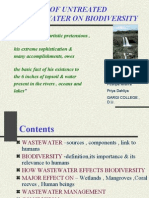 Impact of Untreated waste water on Biodiversity
