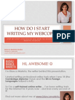 How to start writing webcopy